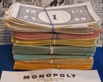 Vintage Monopoly Money