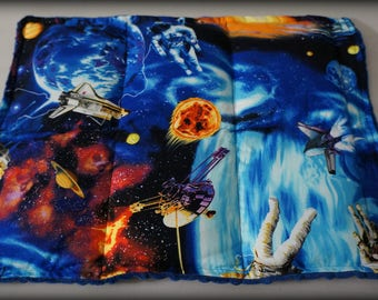 READY TO SHIP! Weighted Lap Pad Outer Space & Minky * 3 lbs