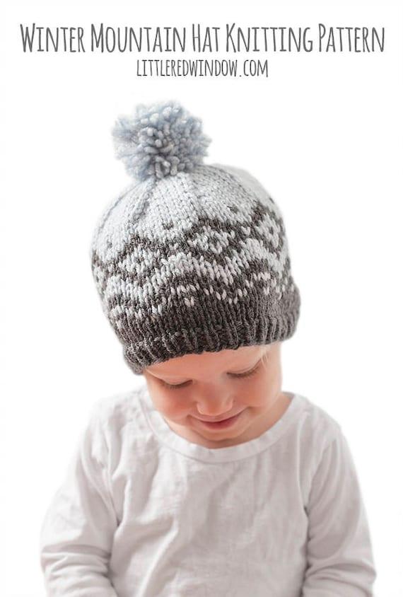 Winter Mountain Hat KNITTING PATTERN / Fair Isle Pattern/ Fair ...