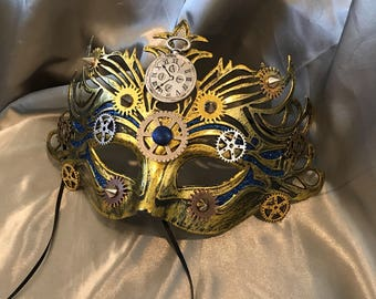 Masquerade Mask, Comic Con Mask, Cosplay Mask, Steampunk Mask, Mardi Gras Mask, Fantasy Mask, Steampunk Costume, Michanical, Cosplay, Unisex