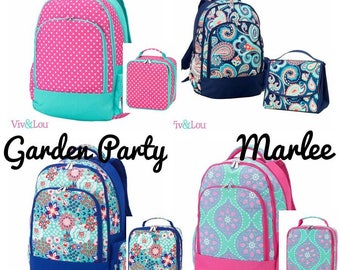 Backpacks ~ Lunchbox ~ Back to School ~ Dottie Backpack ~ Garden Party Backpack ~ Marlee Backpack ~ Emerson Backpack ~Free Embroidery