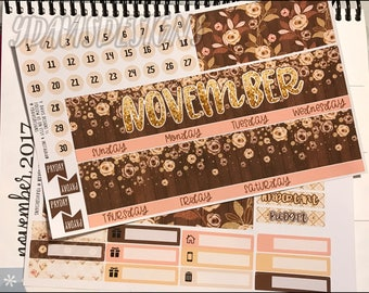 November Monthly Kit! Perfect for ECLP, Happy Planner (Classic), Inkwell Press, Recollections, Etc.