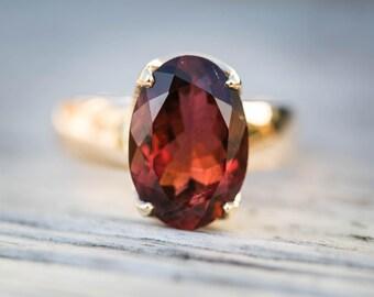 Rubellite Tourmaline 14k Gold Size 7.5 Engagement Ring Rubellite Tourmaline Tourmaline Ring Size 7.5 - Pink Tourmaline - 14k Gold Rubellite