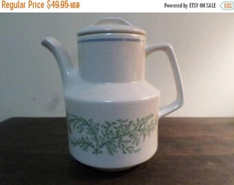 Save 25% Now Vintage Lenox Temper-ware Fancy Free Pattern 7 Cup Coffee Pot with Lid Excellent Condition