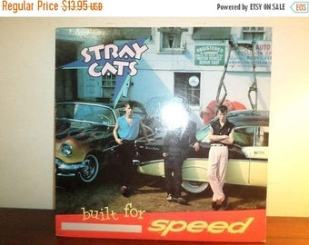 Save 30% Today Vintage 1982 Vinyl LP Record Stray Cats Built for Speed Excellent Condition 11833