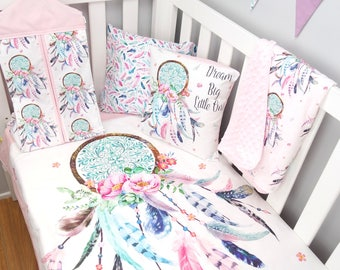 Dream Catcher Crib Bedding Handmade funky modern baby bedding and accessories by Danoah 17