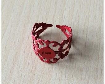 support adjustable filigree ring on finger size