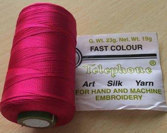 Rayon thread / artificial silk fuchsia 202 D