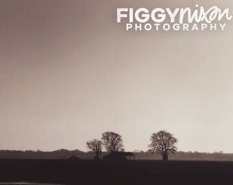 Country Landscape, Rural Photography, Texas Fields, 8x10 Photography Print