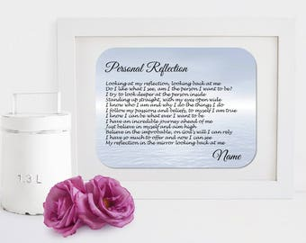 Personalised Inspirational Motivational Poem - Personal Reflection