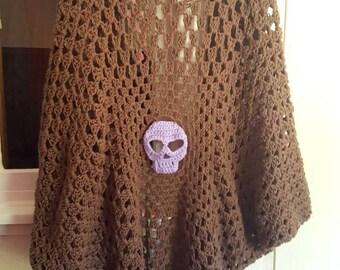 Handmade Crochet Skull Cardigan
