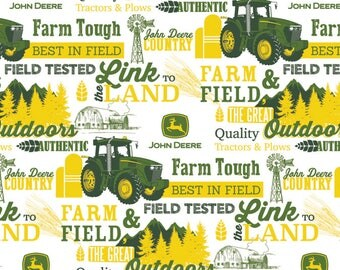 John Deere Fabric Farm Field and the Great Outdoors Fabric From Springs Creative 100% Cotton
