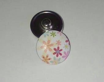 Press flower wooden button