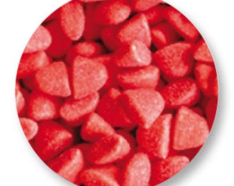 1 cabochon sweet Strawberry metal 25mm