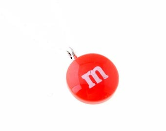 X 1 pendant candy M§MS 18X15mm