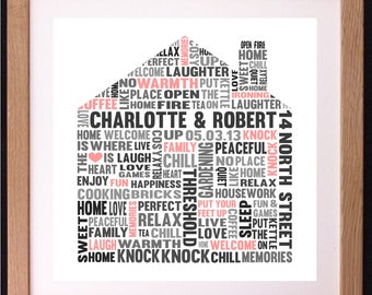 Personalised House Shaped Art Gift