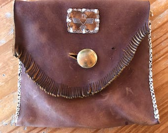 Native American inspired Thunderbird belt satchel