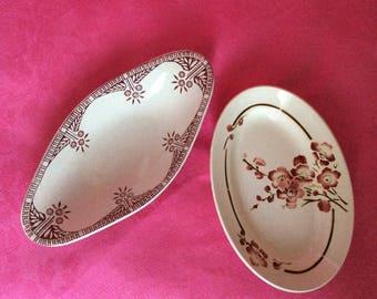 2 small vintage  ceramic / St Amand Dinoise