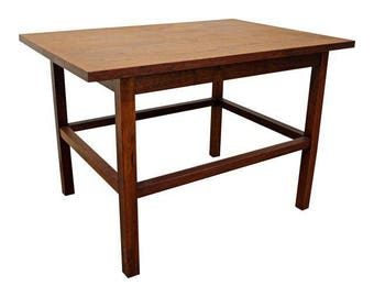 Mid-Century Danish Modern Milo Baughman Founders Walnut End/Side Table