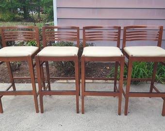4 knoll bar stools joe u0026 linda ricchio counter height bar stools set