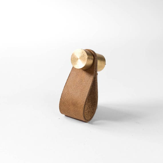 Cassidy Pull - Raw Brass + Tan Leather