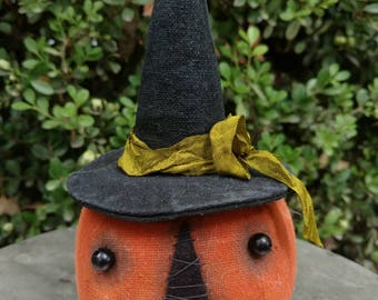 Herminee, our primitive witch pumpkin