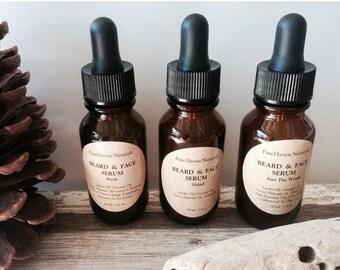 Sale Men's Beard Oil/Face Oil. Natural Men's Skincare. Blends: {Into the woods}, {Fresh}, {Naked} Vegan, Nontoxic Skincare
