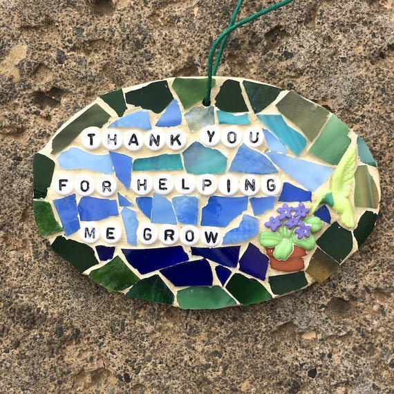 Mosaic Garden Inspirational Quotes Affirmations Mixed Media Stained Glass Reiki Charged Art with a Message Deesigns by Harris©