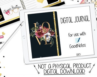 Digital Journal COVER for Goodnotes | Digital Bullet Journal Cover | iPhone, iPad, Tablet Planning with Working Tabs | GB3