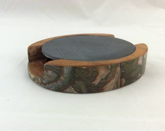 Scratch Turkey Call made from Hard Wood and Natural Slate, Friction Turkey Call, Slate Call, Pot Call, Rockcastle Gobbler Camo Hydrographic