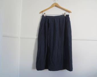 navy spotted skirt