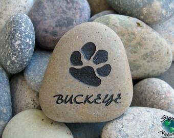 Pet Memorial 2in-3in keepsake stone - Custom Hand Engraved Pet Memory Stone to Honor Your Four Legged Family Members