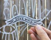 Love Wins sticker small