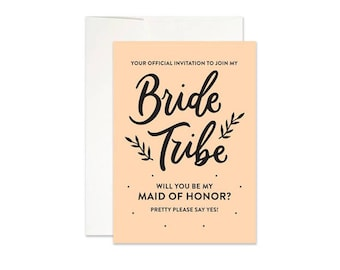 Bride Tribe Maid of Honor Card