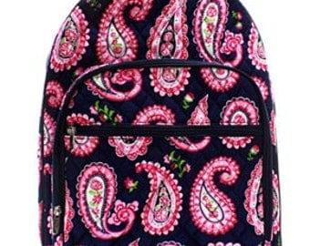 Embroidered Personalized Quilted Backpack
