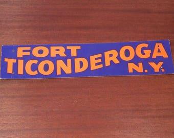 Vintage Fort Ticonderoga NY Advertising Souvenir