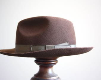 A Fedora hat, made by Christys' of London, size 6 7/8 uk, 56cm.