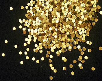 solvent-resistant glitter shapes-gold (metallic) dots