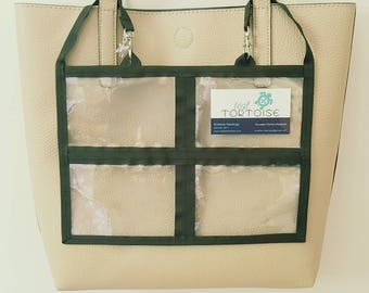 """8 Pocket Holder - 12"""" x 8"""" - Double-sided - Clear Pouch with 2 small straps"""