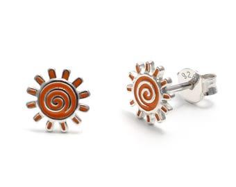 Sun earrings 925 sterling silver