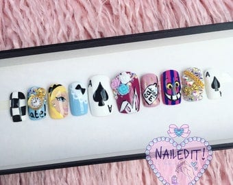 NAILED IT! Hand Painted False Nails - Alice
