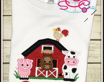 Personalized Barn Yard Shirt/Bodysuit--Farm Shirt--Farm Animals Shirt