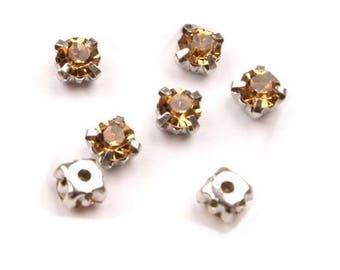 10 crystals set 5 mm yellow Topaz