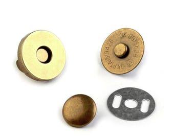 2 magnetic magnet rivet bronze 18 mm