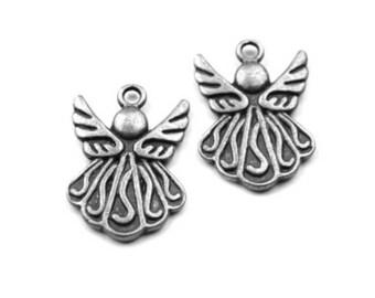 3 charm Angel Cherub 15 silver metal pendant Charm x 20 mm