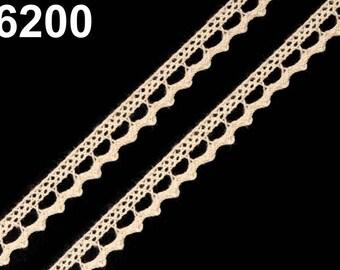 6200 - 9 mm ivory cotton lace