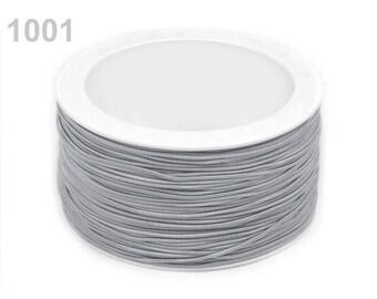 3 m elastic round 1.2 mm grey 1001