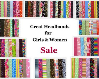 Sale Headbands for Girls Teens Women, Cute Hairbands for Back To School, Comfortable Stretch Cloth Headband, Fabric Hairband