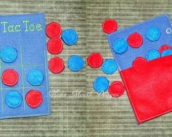 Activity Book - Activity Page - Soft Book - Busy Book - Quiet Book - Tic Tac Toe Game