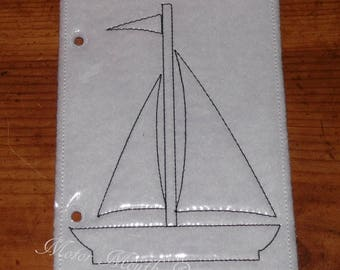 Busy Book - Quiet Book - Reuseable Coloring Pages - Activity Page - Sailboat - Activity Book Page - Travel Book - Toddler toys - Soft Book